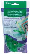 Clover 3157 24-Piece Jumbo Wonder Clips with Seam Allowance Markings, 5.7cm , Green