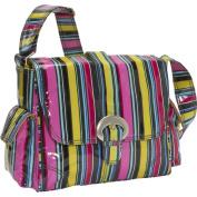 Kalencom Midi Buckle Bag, Petal Stripes