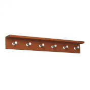 Safco Products Contempo Wood Wall Coat Rack, 6 Hook, Cherry, 4222CY