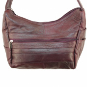 Genuine Leather Studded Cross Body or Shoulder Messenger Organiser Handbag By Silver Fever ®