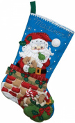 Bucilla 46cm Christmas Stocking Felt Applique Kit, Santa's Secret