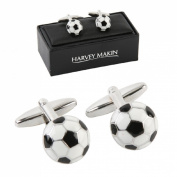 Veka Baby Products- Harvey Makin Rhodium Plated Cufflinks Footballs