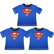 (Pack of 3) Baby Boys DC COMICS SUPERMAN Crew-Neck Short Sleeve T Shirt