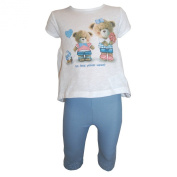 mayoral - Baby 2-piece girl shirt and long pants, white-blue