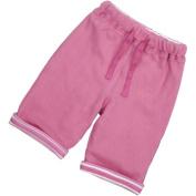 Piccalilly Organic Cotton Pink Girls Breton Stripe Reversible Trousers