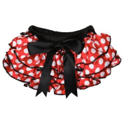 Red Polka Dot Satin Nappy Cover Bloomer 6-24 Months Colour