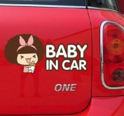 BABY IN CAR VINYL CARTOON WATERPROOF STICKER FOR YOUR CAR