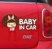 BABY IN CAR VINYL CARTOON WATERPROOF STICKER FOR YOUR CAR