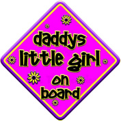 "FLORAL * daddys little girl on board "" novelty baby on board car window sign"