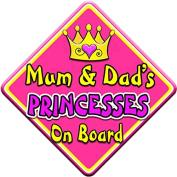 SWIRL JEWEL * Mum & Dad's PRINCESSES * On Board Novelty Car Window Sign