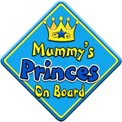 SWIRL JEWEL * Mummy's Princes * On Board Novelty Car Window Sign