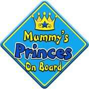 SWIRL JEWEL * Mummy's Princes * On Board Novelty Car Window Sign