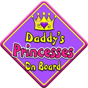 SWIRL JEWEL * Daddy's Princesses * On Board Novelty Car Window Sign