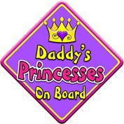 SWIRL JEWEL * Daddy's Princesses * On Board Novelty Car Window Sign
