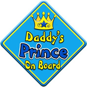SWIRL JEWEL * Daddy's Prince * On Board Novelty Car Window Sign