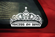 Princess Crown Tiara elegant Quality vinyl sticker ,V6