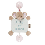 Nattou Charlotte & Rose Rose The Elephant Baby On Board Sign