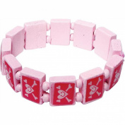 Veka Baby Products-Pink Pirate Wooden Girls Bracelet