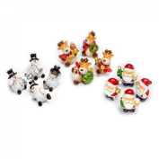 Veka Baby Products-Resin Christmas Figurines - Pack of 12 Assorted