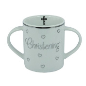 CHRISTENING GIFT - DOUBLE HANDLED CHRISTENING MUG 50967 - BRAND NEW & BOXED