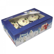 Veka Baby Products-The Snowman & Snowdog Cupcake Treat box - pk2