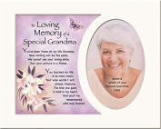 Memory Mounts Memorial In Loving Memory Of A Special Grandma Mount And Poem For A Photo Frame 25cm x 20cm
