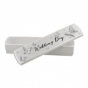 Veka Baby Products-Juliana 'Wings of Love' Resin Box Certificate Holder