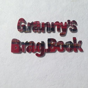 Granny's Brag Book - Tartan print with pewter footprints