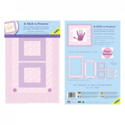 Veka Baby Products-Stick-a-Frames In Pink Polka & Gingham pk6