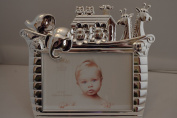Noah's Ark Nursery Baby Silver Photo Frame Christening Gift Luxury 10cm x 15cm