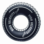 2x Giant 120cm High Velocity Sport Tyre Tube Swim Ring Great Swimming Ring or Swimming Pool Tube with 2 Grab Handles