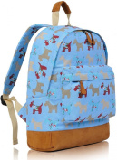 KukuBird Ladies Girls Black Sausage Dog Dachshund Canvas Backpack Rucksack