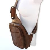 Genuine Leather Sling Messenger Backpack Organiser
