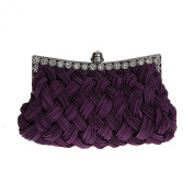 LadyGirl Knit-Style Prom & Party Evening Handbag With Crystals, Clutch Bag, Gift Ideas--Colours Various, Price/Piece