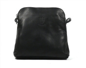 Real Italian Soft Leather Black Cross Body Shoulder Bag Handbag