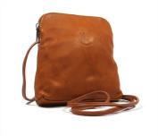 Real Italian Soft Leather Tan Cross Body Shoulder Bag Handbag