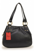 Gigi Midi Leather Shoulder Bag - Othello 6819