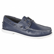 Dek Boys Non Marking Stitched Leather Boat Shoes