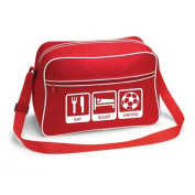 Eat Sleep United Football Supporter School Shoulder Bag