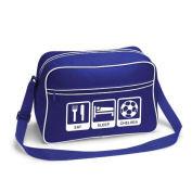 Eat Sleep Chelsea Football Supporter School Shoulder Bag