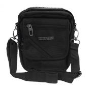 Multifunction Nylon Shoulder Satchel Waist Bag Bumbag Fanny Pack for Men Black