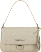 Versace Jeans Women Quilted Flap Bag Peach