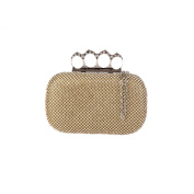 HotStyleZone Bling Diamond Crystal Stone Ring Evening Bag Clutch Purse Party Prom Wedding