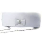Ceremony bag 'Madonna'silver-plated grey.