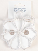 Hair Accessory Knots with Pearls Large 1 Pieces White