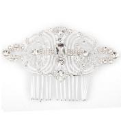 Phenovo Bridal Hair Slide Comb Rhinestone Hair Accessories