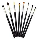 Sanwood 8x Eye Brushes Set Blend Eyeshadow Angled Smoked Makeup Brush