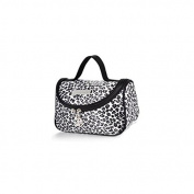 Leopard White Pattern Cosmetic Make up Travel Package Case Pouch - Model 283 [ARTUROLUDWIG]