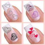 Water Decal Nail Art Sticker Set - Hearts