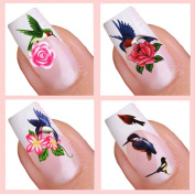 Water Decal Nail Art Sticker Set - Birds